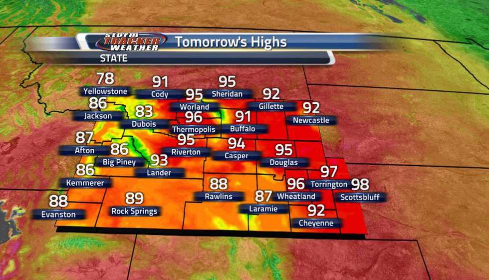 With the clear skies and no nearby weather systems, temperatures tomorrow will skyrocket into...