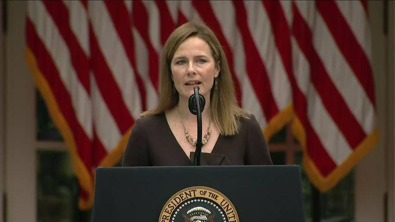 President Donald Trump nominated Judge Amy Coney Barrett to the Supreme Court on Saturday,...