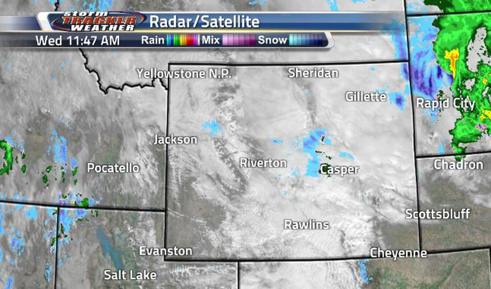 The last of the Winter Storm is pushing out of state.