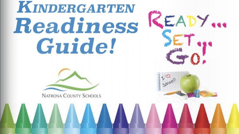 The cover of NCSD's Kindergarten Readiness Guide, which helps determine for parents and...