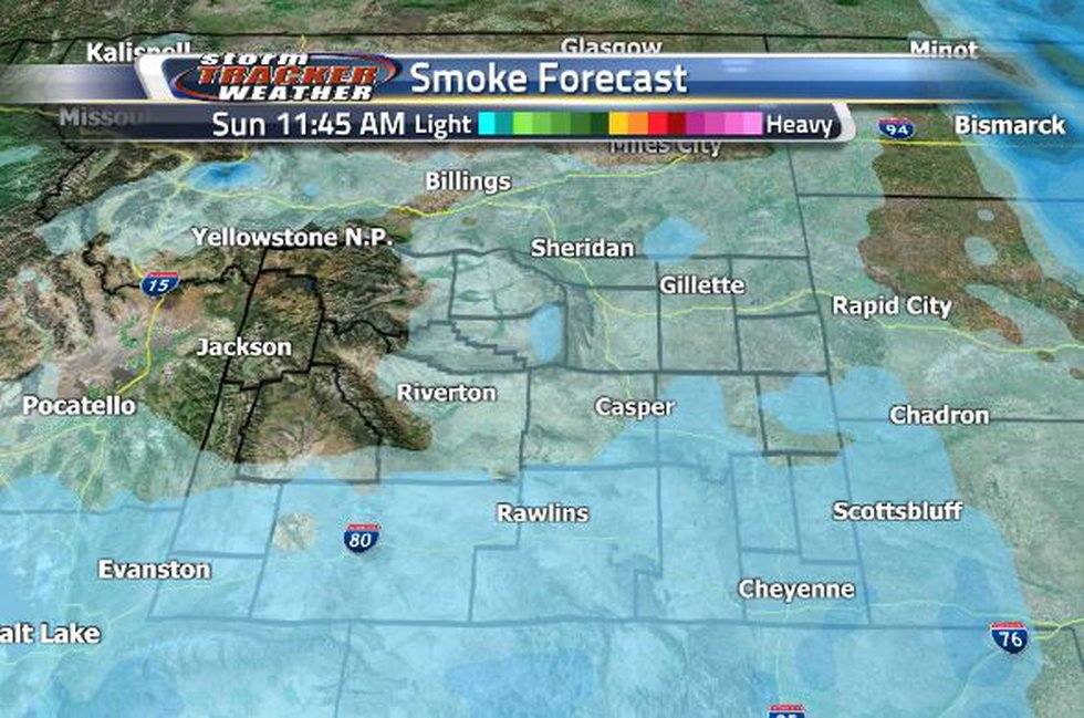 Smoke will rest in the southern half of the state over the next few days.