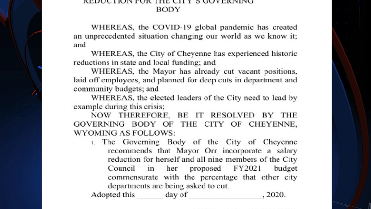 New legislation to cut City of Cheyenne elected officials salary