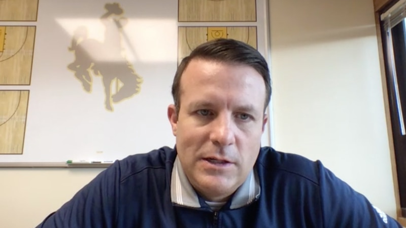 University of Wyoming Head Men's Basketball Coach Jeff Linder discussing the offseason for the...