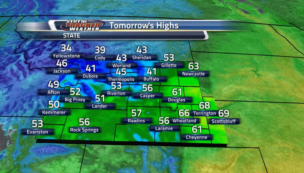Similar temperatures will be story for tomorrow as seasonable temperatures stick around for one...