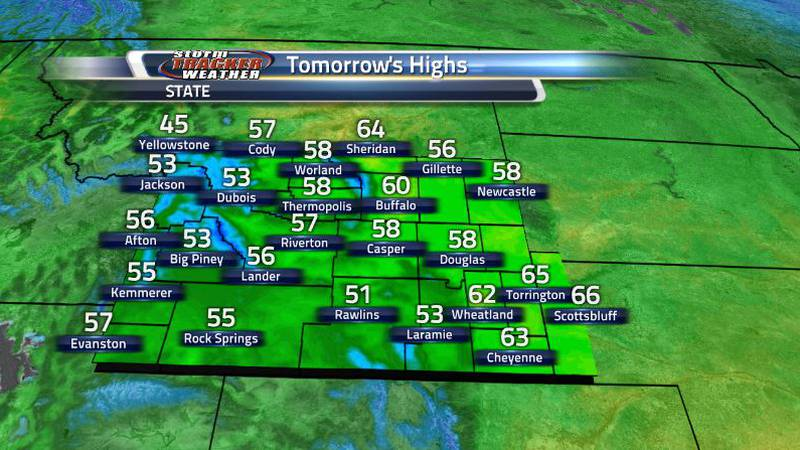 High around the state tomorrow will reach more seasonable levels with lots of lower 60s and...