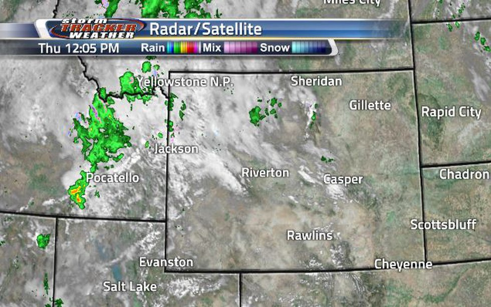 Clouds and showers are continuing to move in from the West.