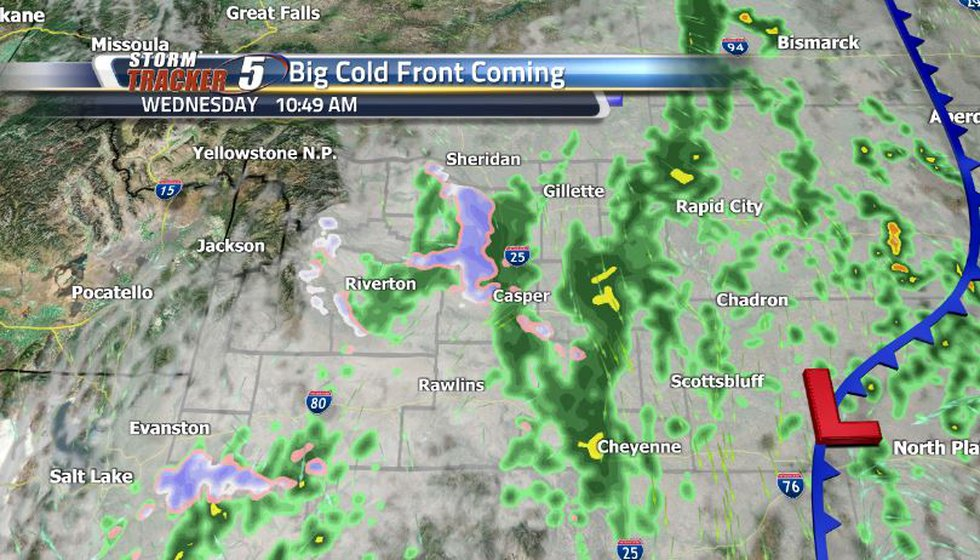 We have a very strong cold front moving through from the Pacific Northwest that is going to...