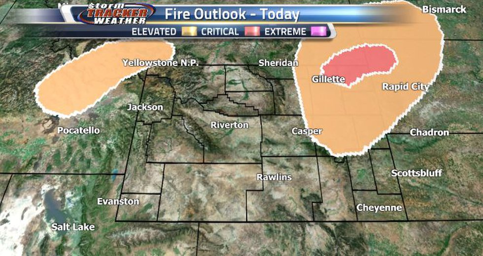 There are Elevated and Critical Fire Risks in the northeastern corner.