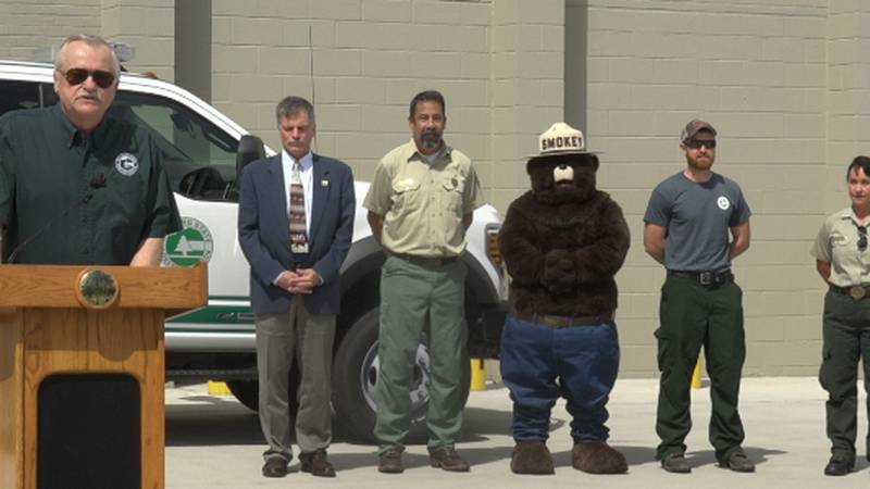 Wyoming State Forestry Division wildfire briefing with Gov. Mark Gordon.