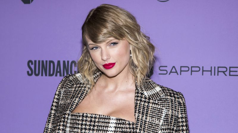 "FILE - Taylor Swift attends the premiere of ""Taylor Swift: Miss Americana"" during the 2020..."