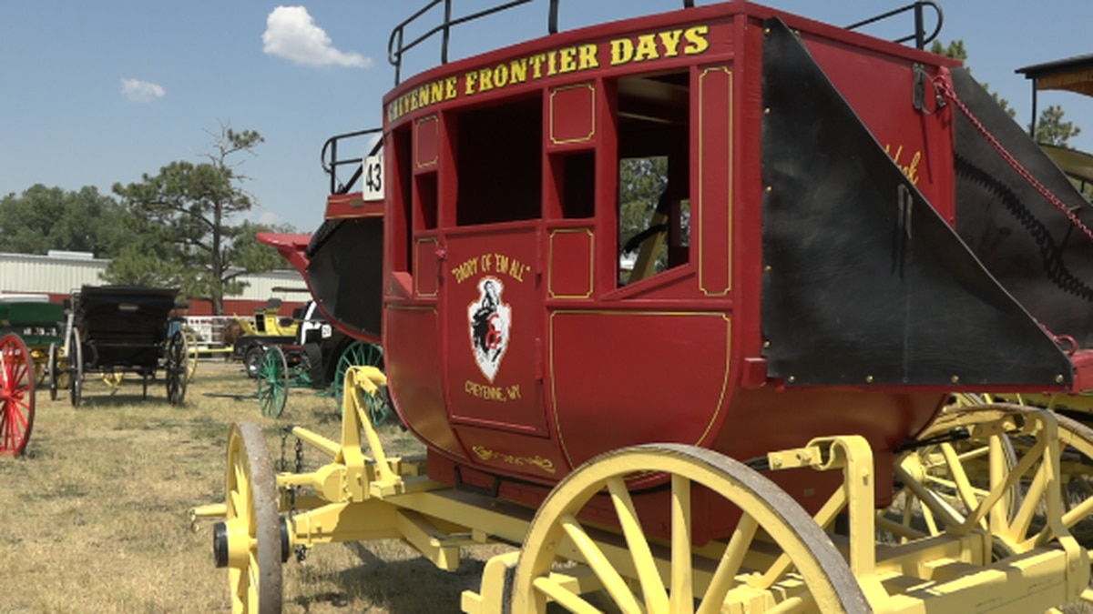 A carriage from Cheyenne Frontier Days in Cheyenne, WY.