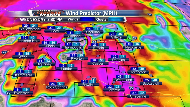 Windy Conditions across Wyoming