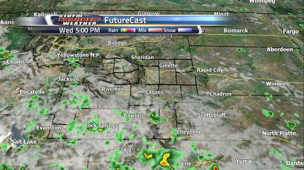 Scattered showers and storms will dominate much of southern Wyoming tomorrow leaving the...