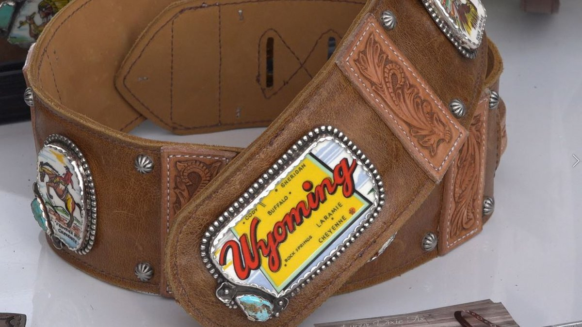 A unique Wyoming belt at Pure Dixie's state fair booth