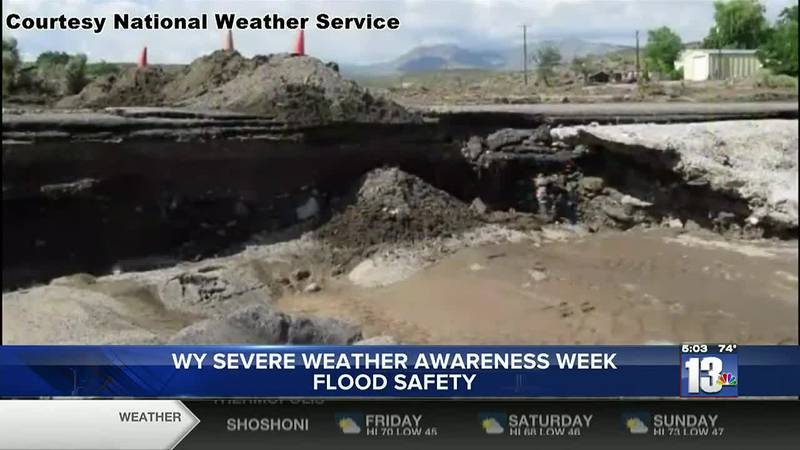 Wyoming Severe Weather Awareness Week Flood Safety day
