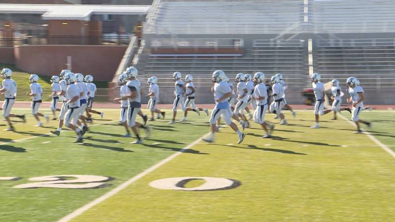 Cheyenne East gets loose at the start of practice on Tuesday Oct. 5, 2021.