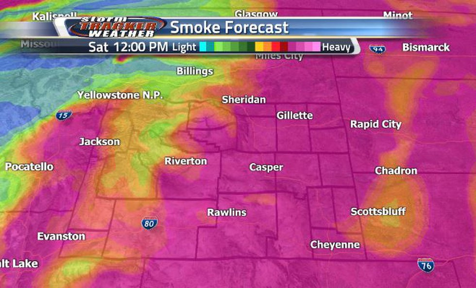 Lots of heavy smoke was seen throughout the state today.