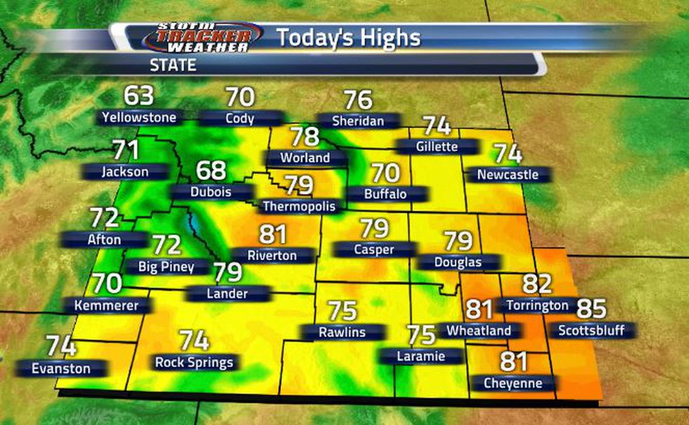 Temperatures today are much cooler than last week.