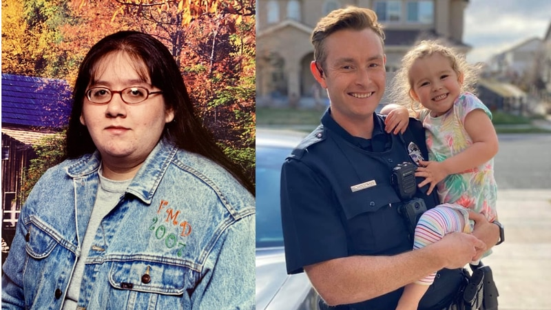 Officer Curt Holland and Francesca were killed in a crash in Colorado on Friday