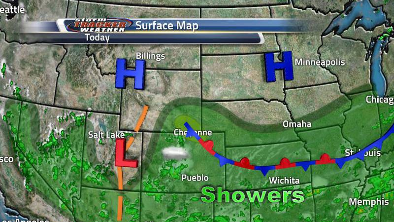 The cold front that passed through the state has stalled out giving the southeast corner the...