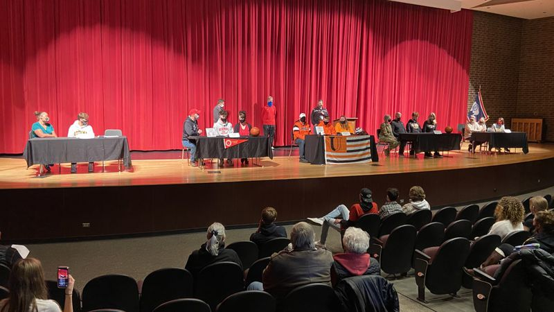 Signees were surrounded by family, friends, and coaches at Central's 2021 Spring Signing Day.