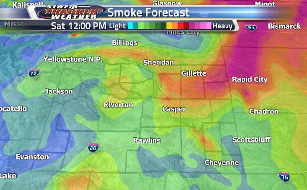 The heaviest smoke will be in the most northeastern corner. Casper will start to see heavier...