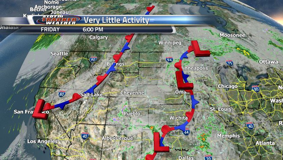 The stationary front to the north will fizzle out and the main front that passed through will...