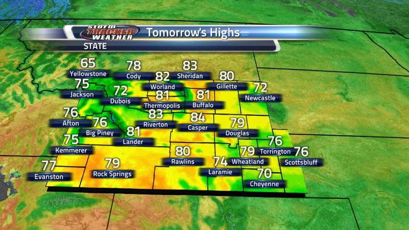 Highs will be better than today with some cooler conditions all around thanks to that front. It...