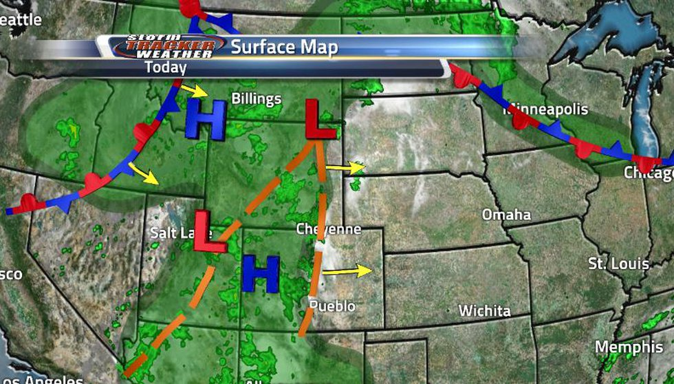 The two troughs are bringing us much rain but the stationary front out west will turn cold and...