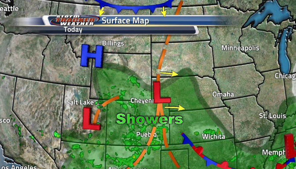 The low pressure system off to the eastern side of the state is fueling our showers but there...