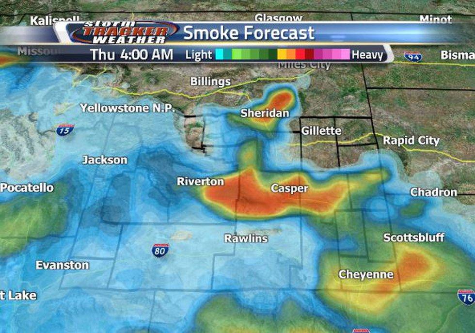 Casper will experience heavy smoke very early Thursday morning.