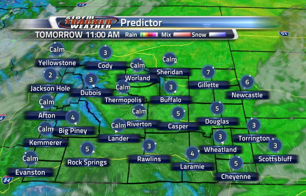 By tomorrow morning, most of the clouds should clear out.