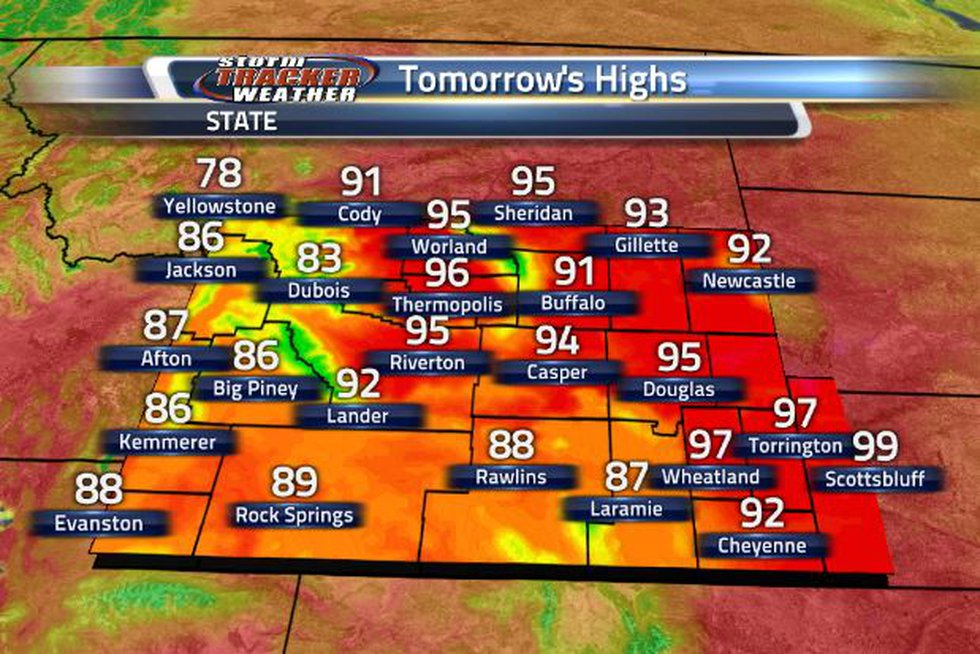 Mid to upper 90 degree temperatures are returning to the northeastern corner and the eastern...