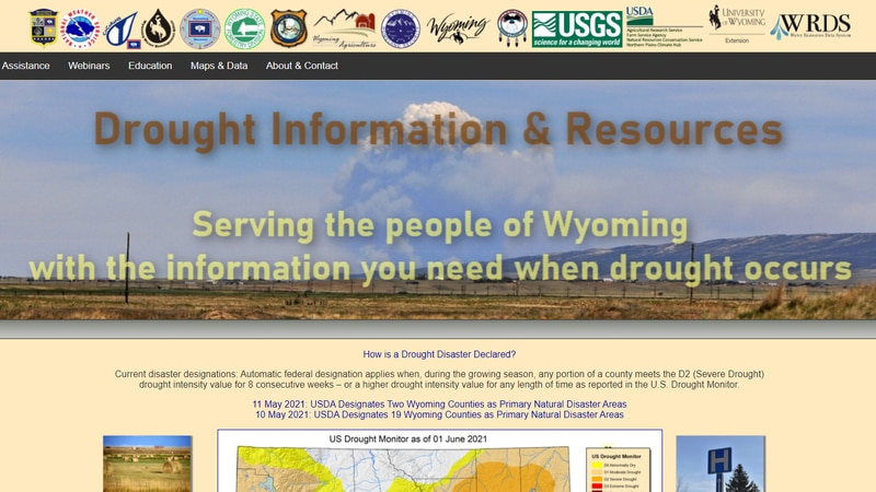 Developed through a collaboration of multiple state and federal agencies, drought.wyo.gov will...