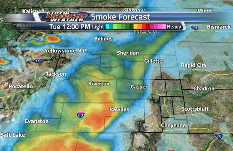 There will be a heavy smoke pocket over Rawlins tomorrow.
