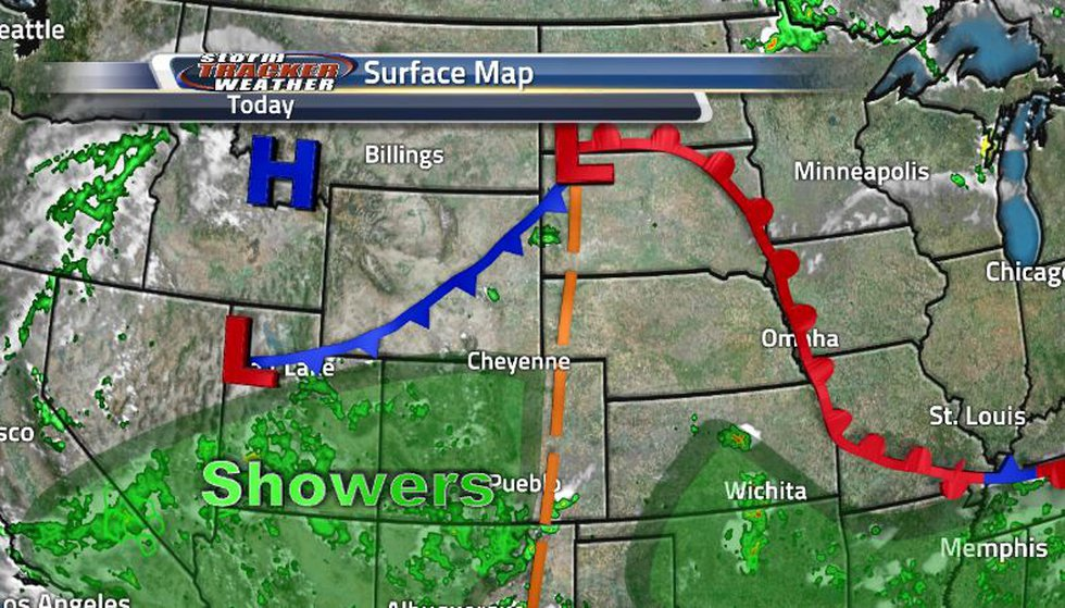 The stationary front sitting over the state turned into a cold front as it begins to move over...