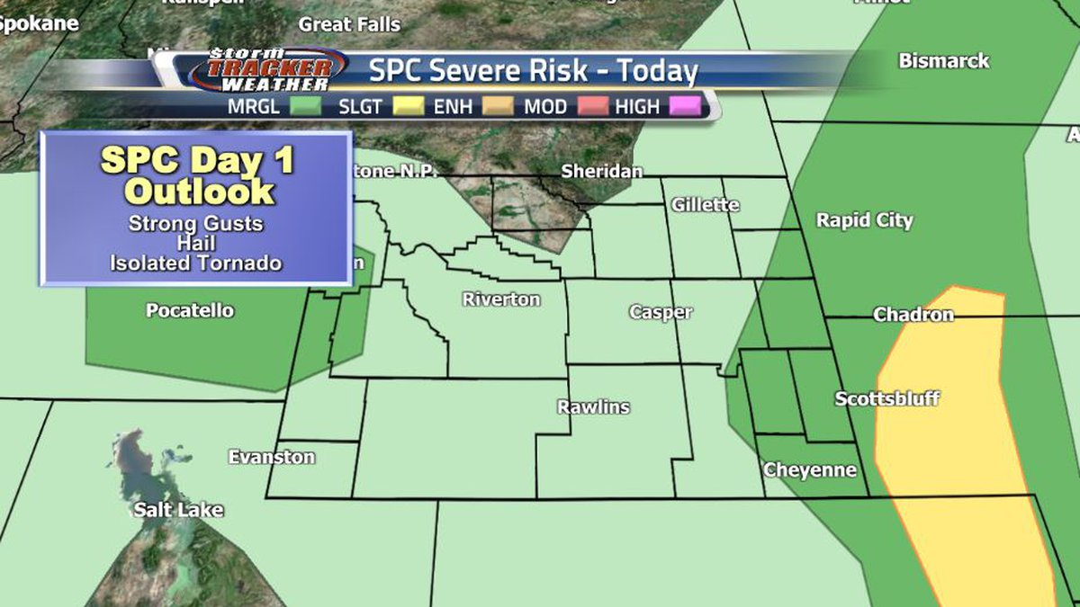 Cooler temperatures and cloudy skies are limiting the severe weather potential for Friday...