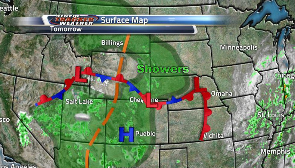 The cold front that was moving through our state has turned stationary and is expected to drop...