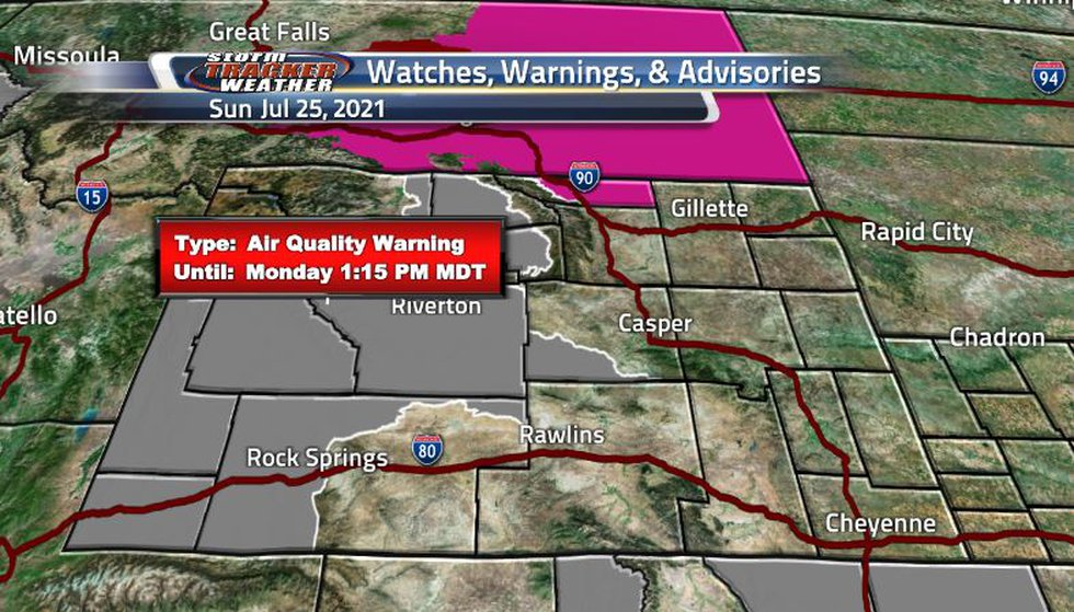 Air quality warnings continue to stick around and expand as the wildfire smoke is bringing a...