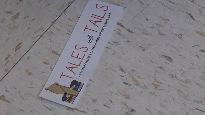 A reader's bookmark at Tales with Tails at Casper Humane Society