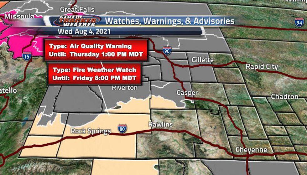 Fire weather warnings are back as the dry conditions are starting up in the southwestern...