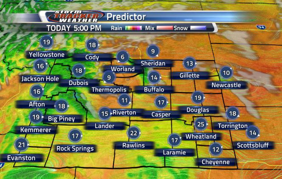 Wind speeds will pick up this afternoon and this early evening.