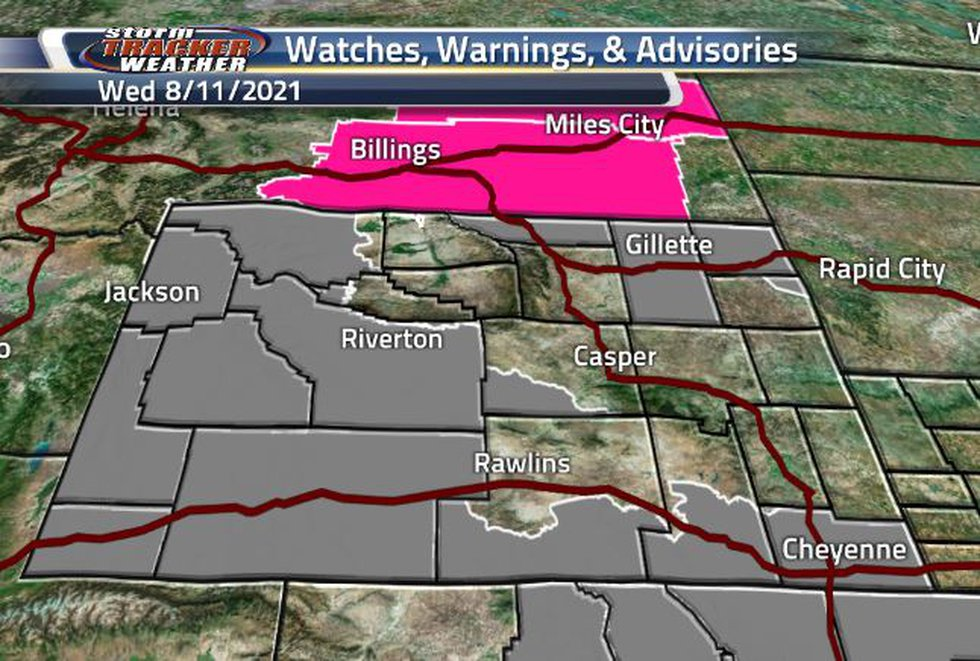 Air Quality Warnings are throughout the state again today with a variety of expiration times.