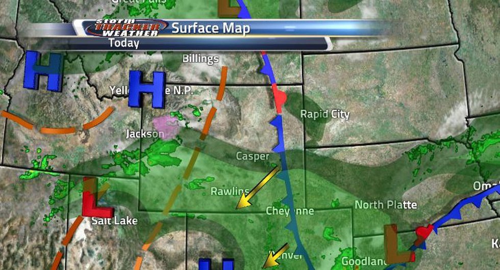Cooler temperatures are due to the cold front moving in. But, there will be another cold front...