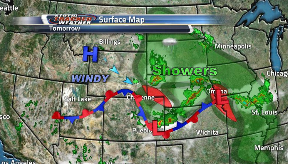 Battling systems are causing lots of severe weather potential throughout the state as well as...