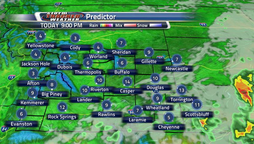 After the thunderstorms move through, the winds will die down into the overnight hours.