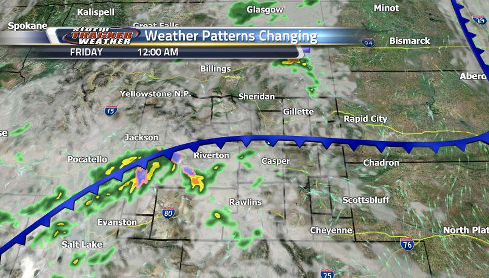 Cold front coming through will bring back the cool temperatures as well as increased cloud...