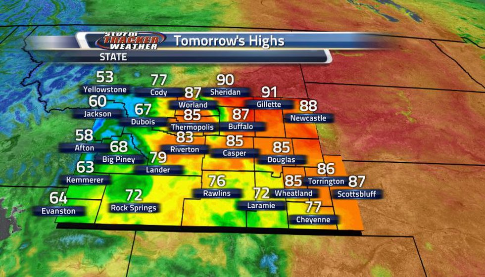 Temperatures will still remain above average for much of the state while the western regions...