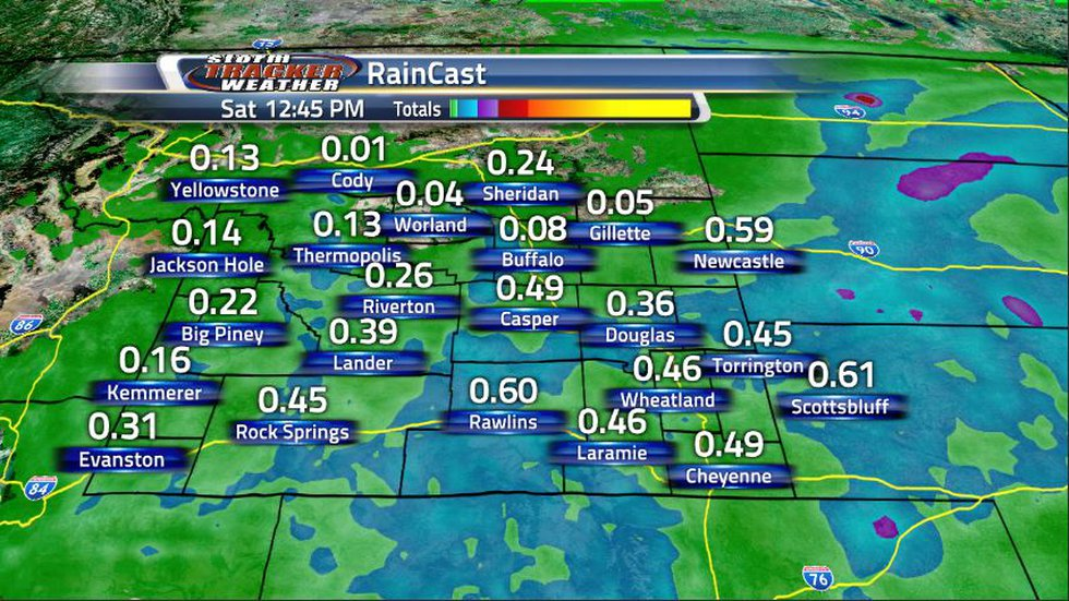 Much of the rain will take place on Friday with some areas seeing rain totals around half an...