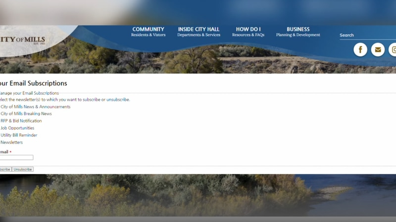 The website to get city notices by email